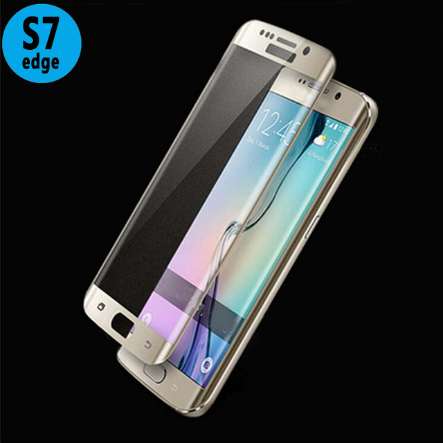 5c7e2722518 For Samsung Galaxy S7 Edge Screen Protector 9H 0.2mm 3D Ultra-Thin Curved  Tempered