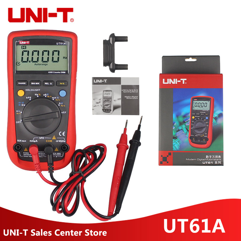 UNI-T UT61A Multimeters Digital With LCD Screen UT61A AC/DC Voltage&Current Measurance Multimetro sig sauer p226 p228 p229 holster tactical hunting puttee thigh drop leg holster