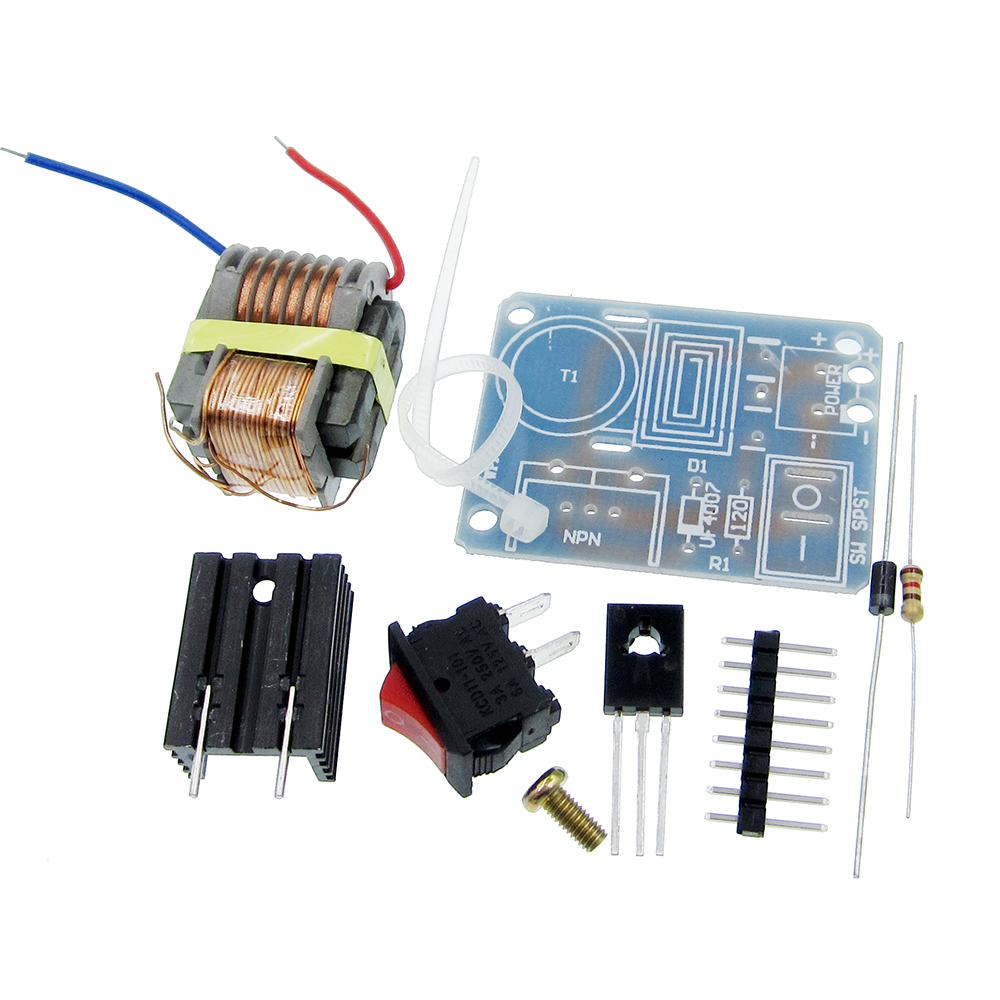 Active Components 15kv High Frequency Transformer Dc High Voltage Arc Ignition Generator Inverter Boost Coil Module Step Up Power Module Diy Kit Electronic Components & Supplies
