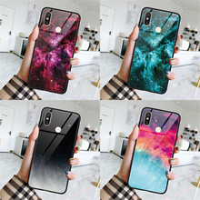 Abstract Sky Tempered Glass Case For Xiaomi Mi A2 6X 8 Lite