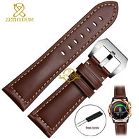Genuine leather Watchband smart strap 26MM for Garmin Derek Fenix3 Fenix 3 watch band handmade wristband bracelet belt