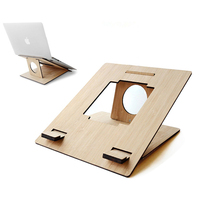 Detachable Laptop Stand Wooden Desktop Holder For Macbook Lenovo ASUS Tablet PC Notebook Portable Lap Desks Cooling Bracket
