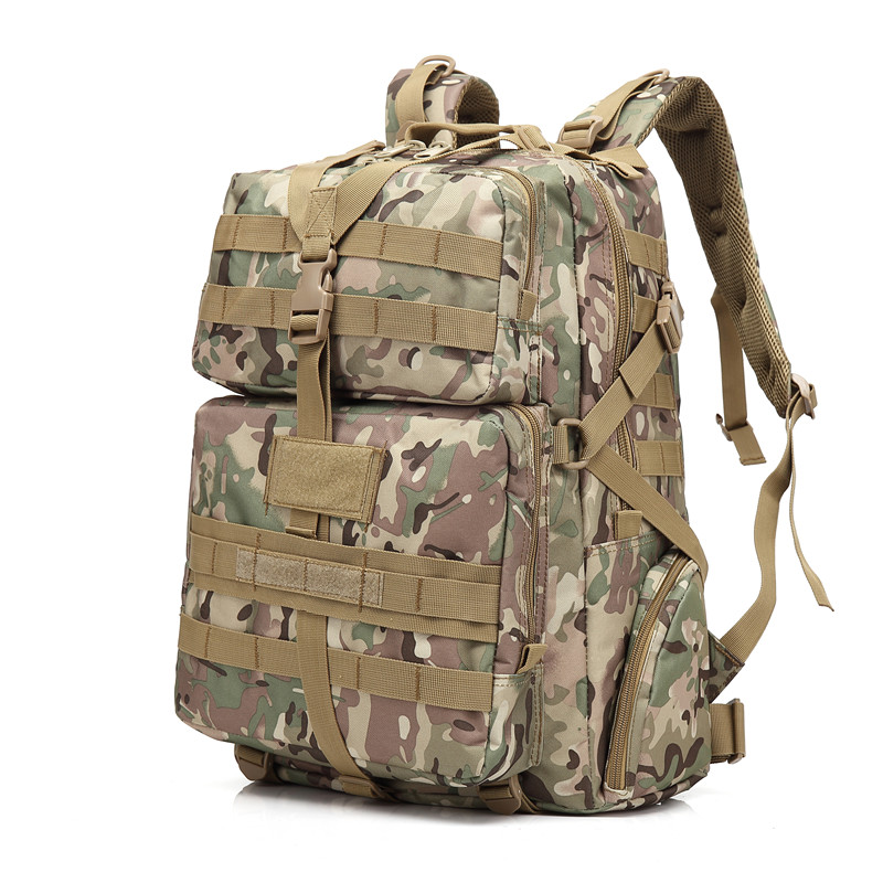 Outdoor Waterproof Military Tatical Backpack 3P Shoulder Bag 45L Molle System Camouflage Climbing Hiking Traveling Backpack 35l waterproof tactical backpack military multifunction high capacity hike camouflage travel backpack mochila molle system