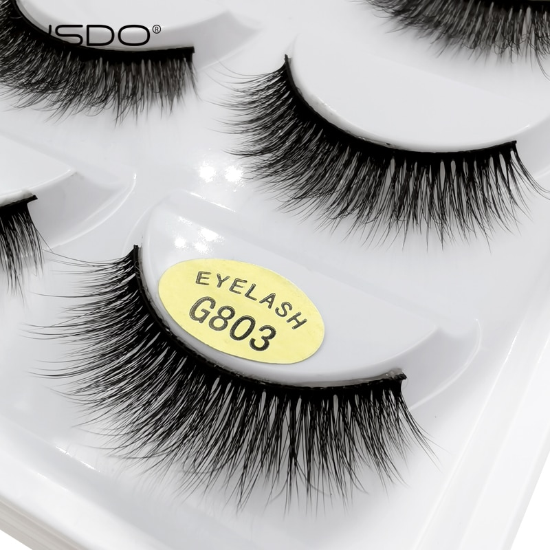 YSDO 5 Pairs 3D Mink EyeLashes Natural Hair False EyeLashes Long 100% Dramatic Eye MakeupFake Lashes Fluffy Cilios Lashes G803