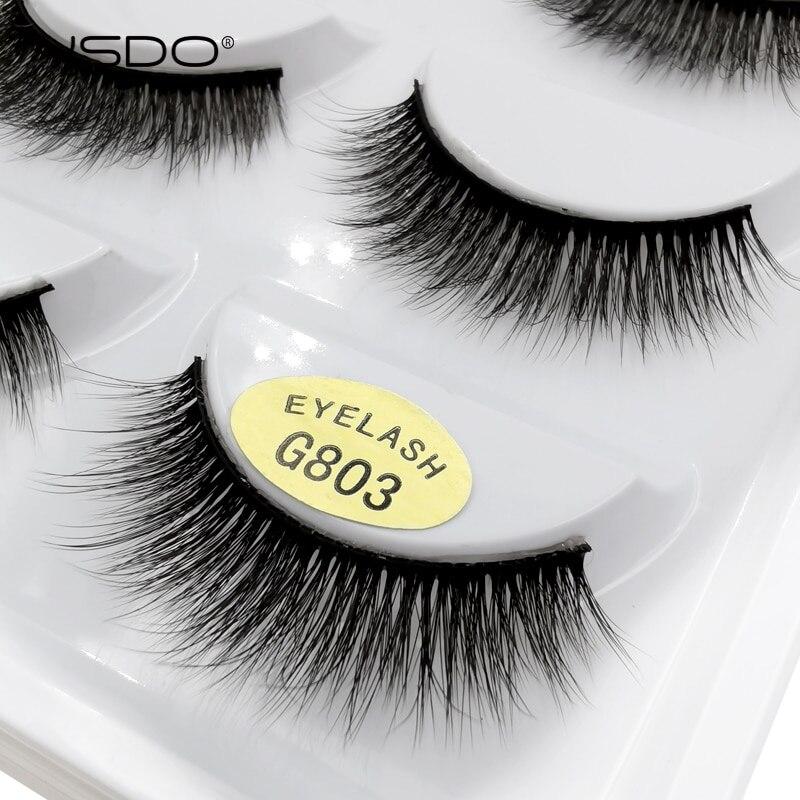 YSDO 5 Pairs 3D Mink Eyelashes Natural Hair False Eyelashes Long 100% Dramatic Eye Makeup Fake Lashes Fluffy Cilios Lashes G803