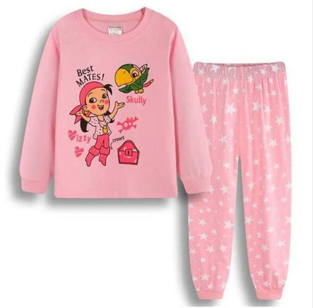 2d41620584 New Autumn Baby Girls Pajamas Sets Sports Suit Long Sleeve T-shirt +Pants  Kids Childrens Sleepwear Clothing 2-7year Sets pyjama