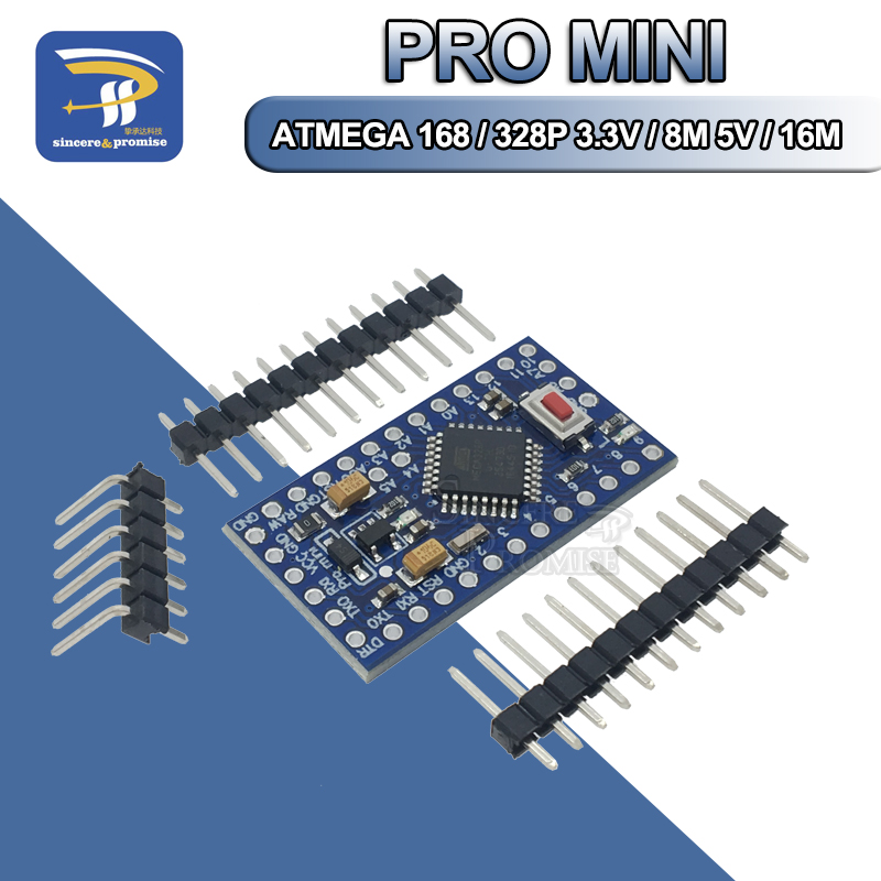 1PCS Pro mini Atmega328 Pro Mini 328 Mini ATMEGA328 3.3V 8MHz 5V 16Mhz for Arduino Compatible Nano CP2102 FT232RL(China)