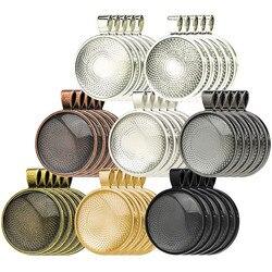 JUYA 10 adet/grup 25mm Iç Boyutu 8 Renk Kaplama Klasik Desen Fit 25mm Cam Cabochon Baz Ayarı DIY takı Yapımı Bulguları