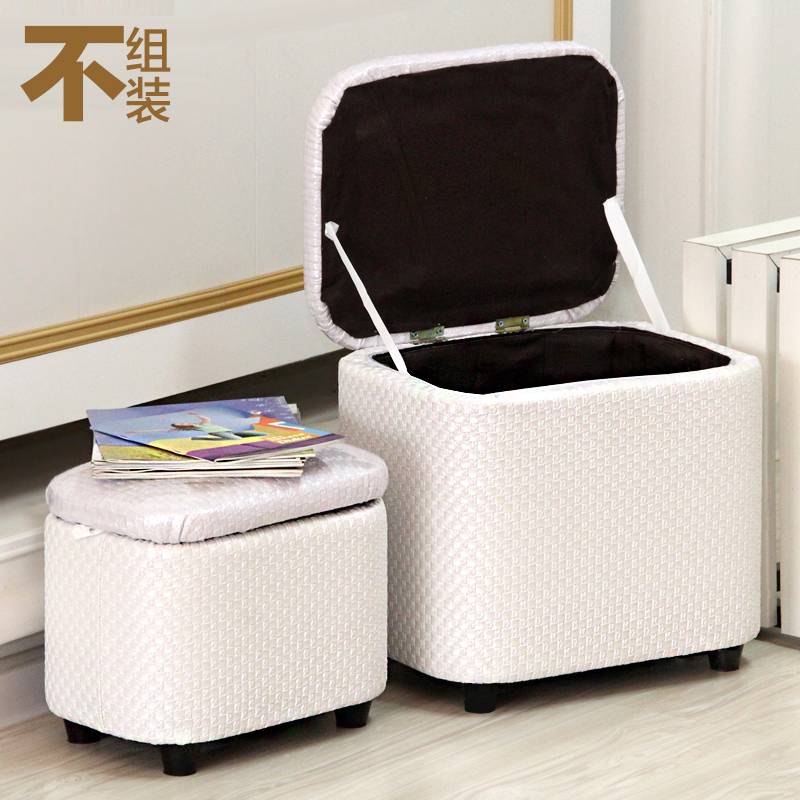 Multi-function Hall Storage Stool Storage Stool Can Sit Leather Storage Box Home Sofa Change Shoe Bench