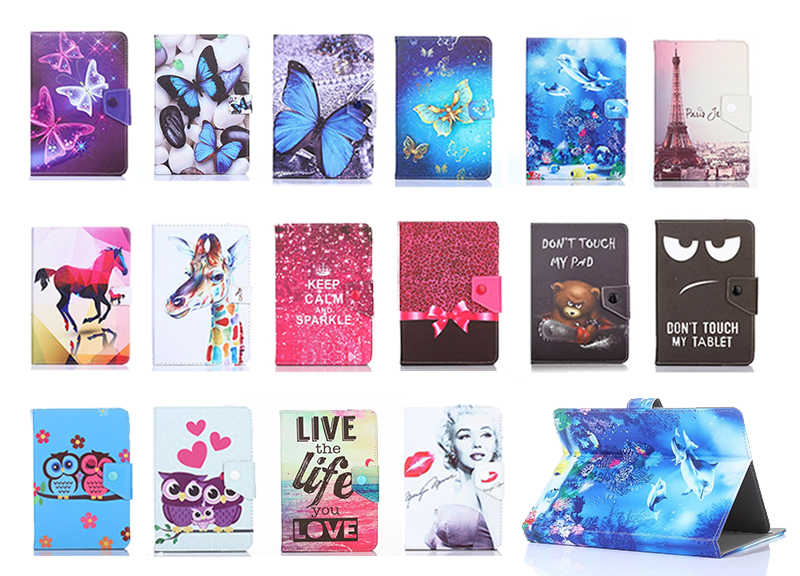 Cartoon Magnetic Print case Universal 9.6 9.7 inch 10 inch 10.1 inch Tablet Bluetooth Keyboard Case Stand PU Leather Cover