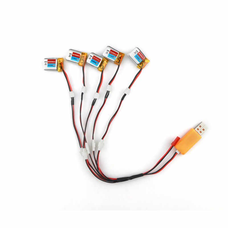 Nouvelle Arrivée 5 PCS Eachine E010 3.7 V 150 mAh Batterie USB Chargeur Ensemble RC Quadcopter Pièces De Rechange
