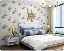 beibehang Mediterranean children's room non-woven papel de parede 3d wallpaper nautical stripes bedroom background wall paper beibehang mediterranean english kids room papel de parede wallpaper for living room bedroom wall paper background contact paper