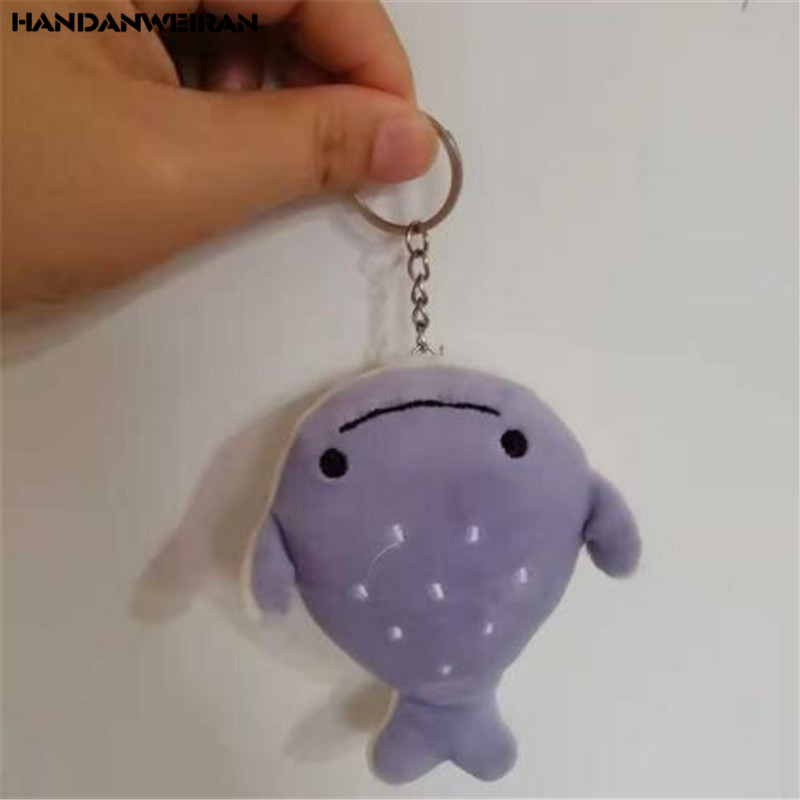 1PCS Plush Flat Head Little Whale Toy Small Pendant Creative Cute Marine Animal Series Stuffed Smiley Shark Toys Explosion 12CM