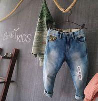 Nova Chegada Do Bebê Das Meninas Dos Meninos Jeans Skinny Crianças Moda Jeans Crianças Primavera Outono Calças Compridas Casuais calças de Brim