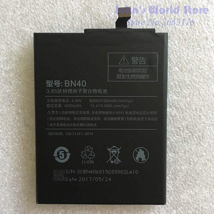 Pour Xiaomi BN40 4000/4100 mAh Batterie Pour Xiaomi Redmi 4 Pro pour 3G RAM 32G Batterie Batterie Bateria Accumulateur Téléphone Intelligent