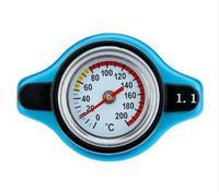 0.9 1.1 1.3 Bar Motorfiets Prestaties Radiator Cap + Water Temperatuurmeter (de grootte kiezen u, alle in blauw)