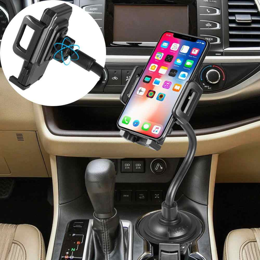 Yiwa Car Phone Holder Mobile Phone Lazy Stand Long Arm Cup Holder Car Mount Long Adjustable Arm & Rotatable Cradle for Universal Phone