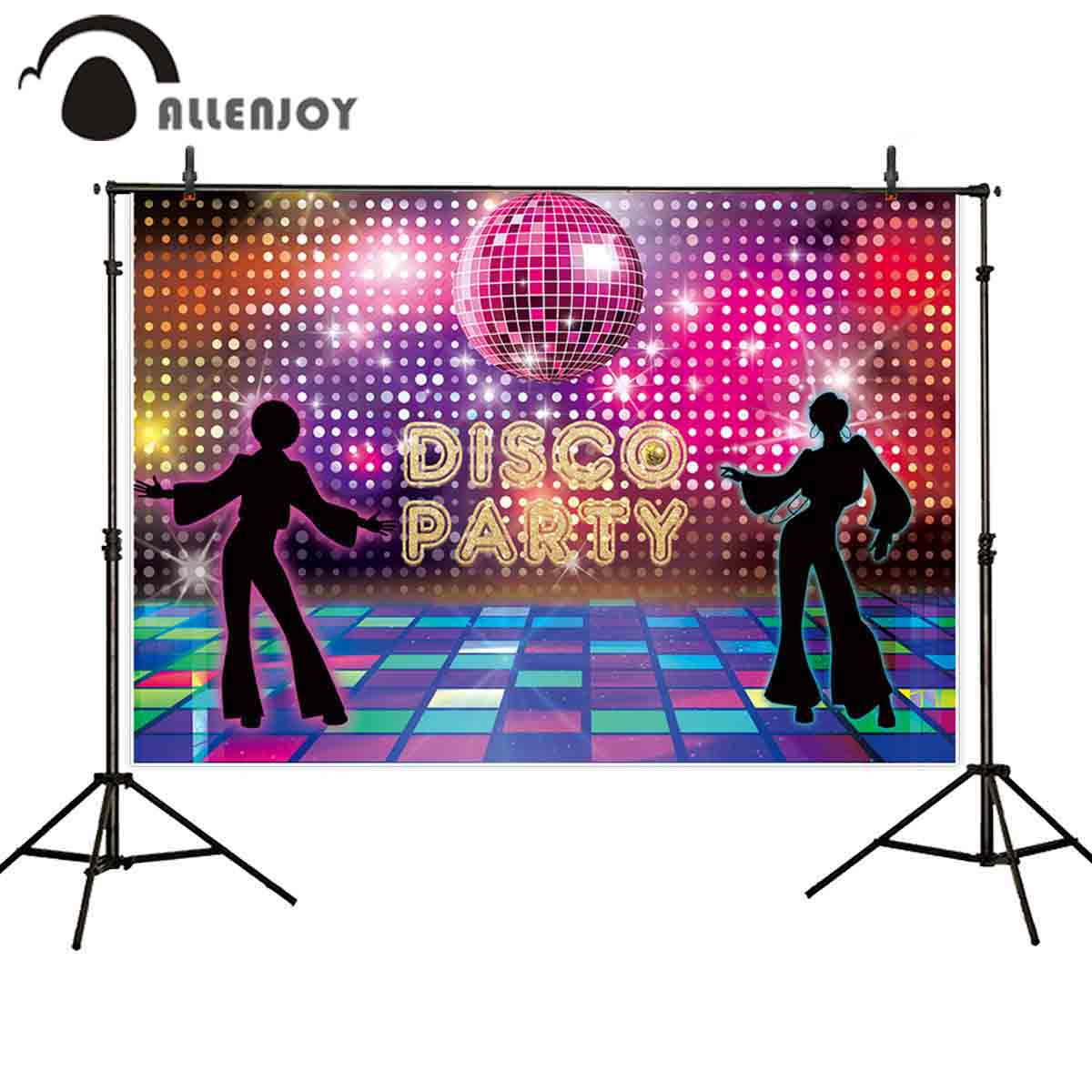Allenjoy Fiesta disco fondo fotográfico escenario spotlight dancer glitter fotografía telón de fondo cabina de foto sesión fotográfica shoot photophone