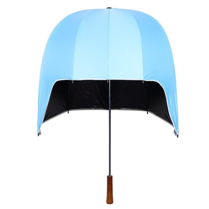 Mode enfant enfants casque parapluie coupe-vent parapluie pluie hommes femmes Non automatique longue poignée parapluies crème solaire de haute qualité