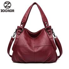 HOT soft Leather Luxury Handbags Women Bags Designer Hand bags Women Shoulder Crossbody Messenger Bag Casual Tote Sac A Main