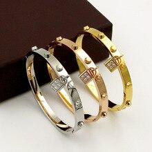 Fashionable accessories titanium steel lock bracelets for women men Female Charm love Bracelets bangles Pulseiras