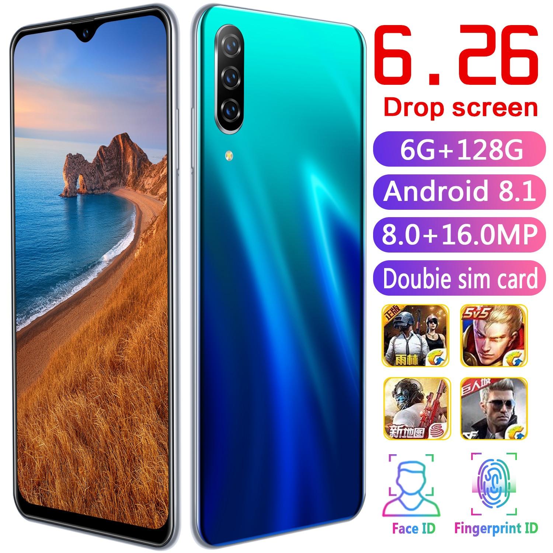 CHAOAI A50 Pro 6.26 pouces goutte d'eau plein écran Version mondiale téléphone Mobile intelligent 6 GB + 128 GB Android 8.1