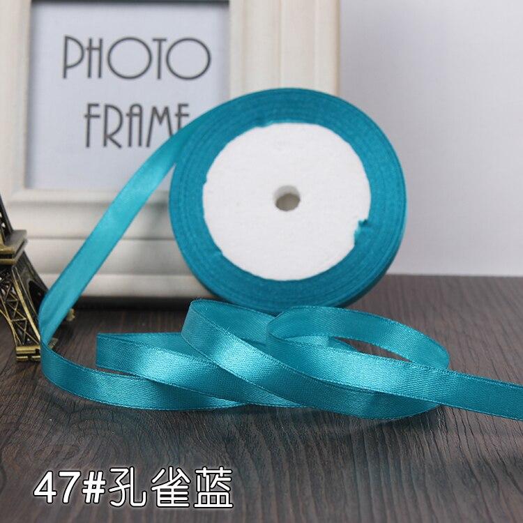 10 мм, 25 ярдов, односторонняя шелковая сатиновая лента, дешевая декоративная подарочная упаковка, Свадебные Рождественские ремесла, белые, розовые, красные, черные ленты