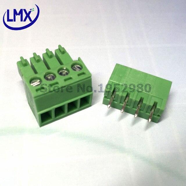 20 Set 3.5MM PCB Pluggable Terminal Block Connectors 2/3/4/5/6/7/8/9/10P Straight Pin KF15EDG-3.5 Copper Green RoHS