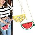 Watermelon Orange Shaped Bag Evening Clutch Bag Fruit Chain Messenger Small Crossbody Bags For Women Purses  BS88