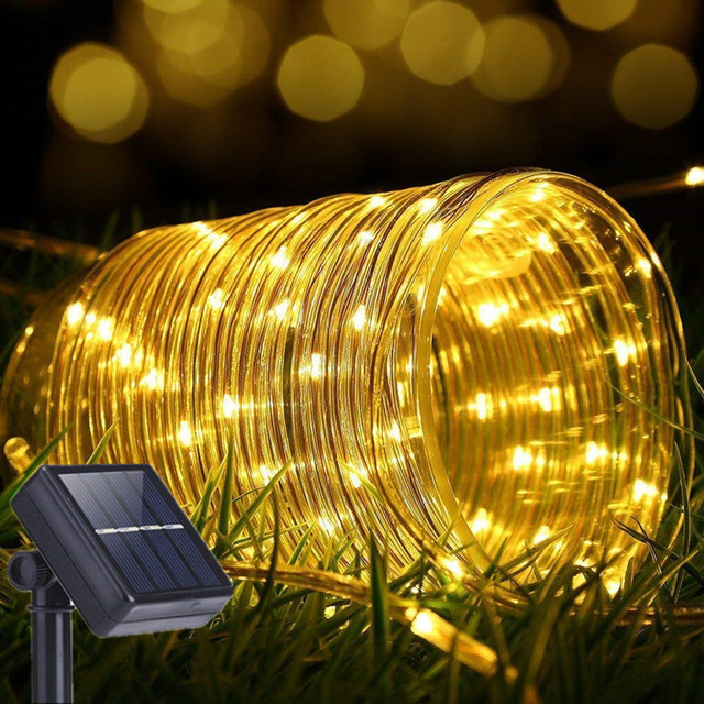 Solar Rope Lights Outdoor 12m M 100led 70 Led Lighting Waterproof Copper Wire String Light For Christmas Home Garden