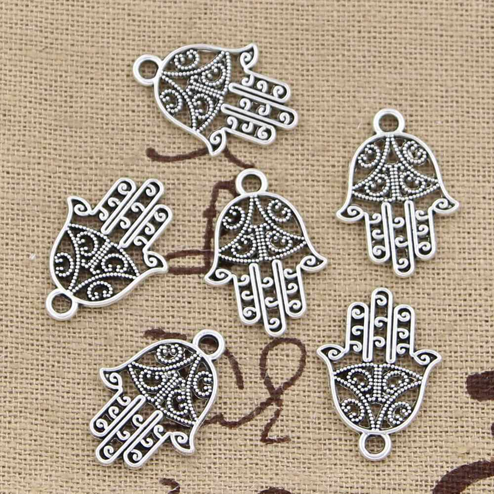 15pcs Charms hamsa palm protection 20x15mm Antique Making pendant fit,Vintage Tibetan Silver Bronze,DIY bracelet necklace