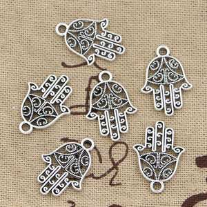 Charms Hamsa Jewelry Pendant-Fit Palm-Protection Tibetan Silver Handmade Antique-Making