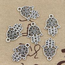 Wholesale Charms hamsa hand 20*15mm 50pcs free shipping Vintage Pendant Antique sliver Fit Necklace DIY Metal Retro Jewelry