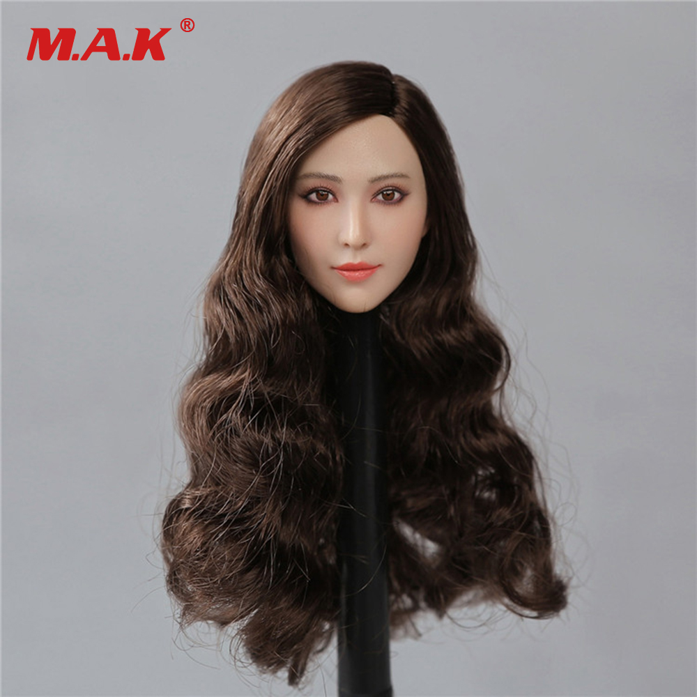 1/6 PT003 Asian Female Star  Head Sculpt Fan Bingbing Head model  for 12 Action Figure Doll Toys Collection Gift 1 6 headplay figure head model brown long hair female head sculpt 12 action figure collection doll toys gift