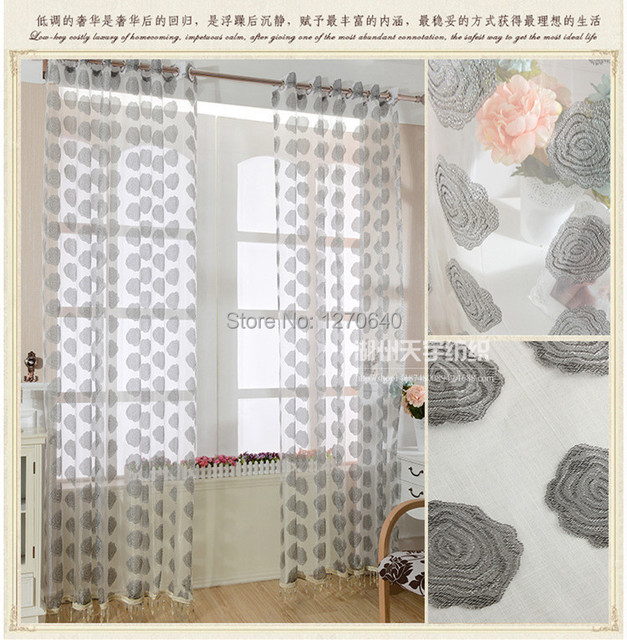 sheer yellow white of style floral curtains patterned embroidery pattern