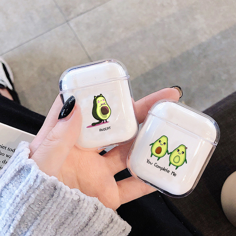 Soft Case For Apple Airpods Case Summer Fruit Avocado Wireless Bluetooth Earphone Case For Airpods Headphone Protective Case