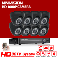 Full HD 1080P Dome CCTV Security System 8CH 1080P AHD NH DVR Kit 8 2mp Indoor