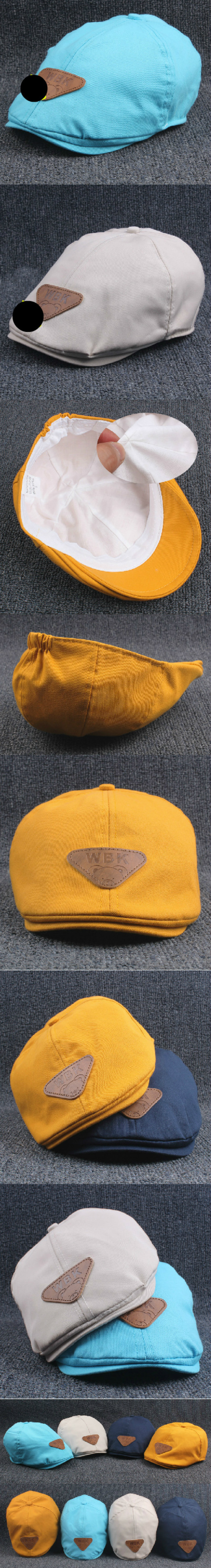 ad91bffa Gorros de boina de algodón de moda para niños y niñas, gorro de verano para  chico 1- 5 YearsWarm
