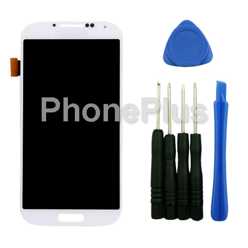 White for Samsung Galaxy S4 i9502 i9508 i959 i337 LCD Display Touch Screen Panel Glass Digitizer Assembly with tools