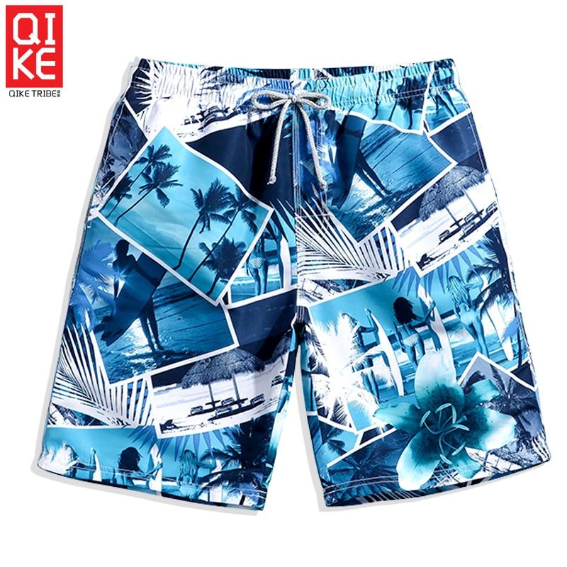 Summer Men's Bathing suit swimsuit breathable   board     shorts   hawiian sport de bain homme swimwear liner mesh