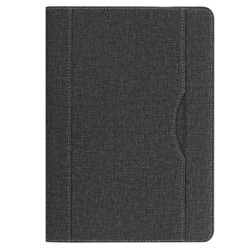 Black iPad folio case with stand and pen holder