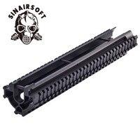 Sinairsoft 10 unidades/pacote uma peça tático tri-trilho handguard para g3 e compatibles MNT-TG3TR caça acessórios