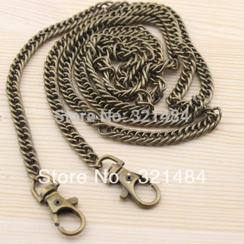 20pcs Antique Bronze Metal 8mm and 120cm with Swivel Clasp Packge Handbag Bag Chain Wallet Chain Handle Findings Accessories