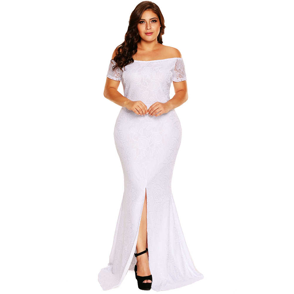 e1cfbdc730834 Detail Feedback Questions about Plus Size Off The Shoulder Lace ...