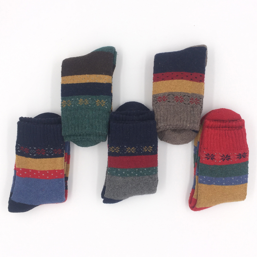 Wool Woman Novelty Socks Mixed Colors Compression Brand 2017 Winter Fashion Non-slip High Quality Thicker Sox 5 Pairs/lot