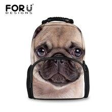 Forudesigns 2017 новых детей чувствовал себя рюкзак милые животные мопс собака женщины рюкзак модный 3d печать рюкзак для подростка девочек