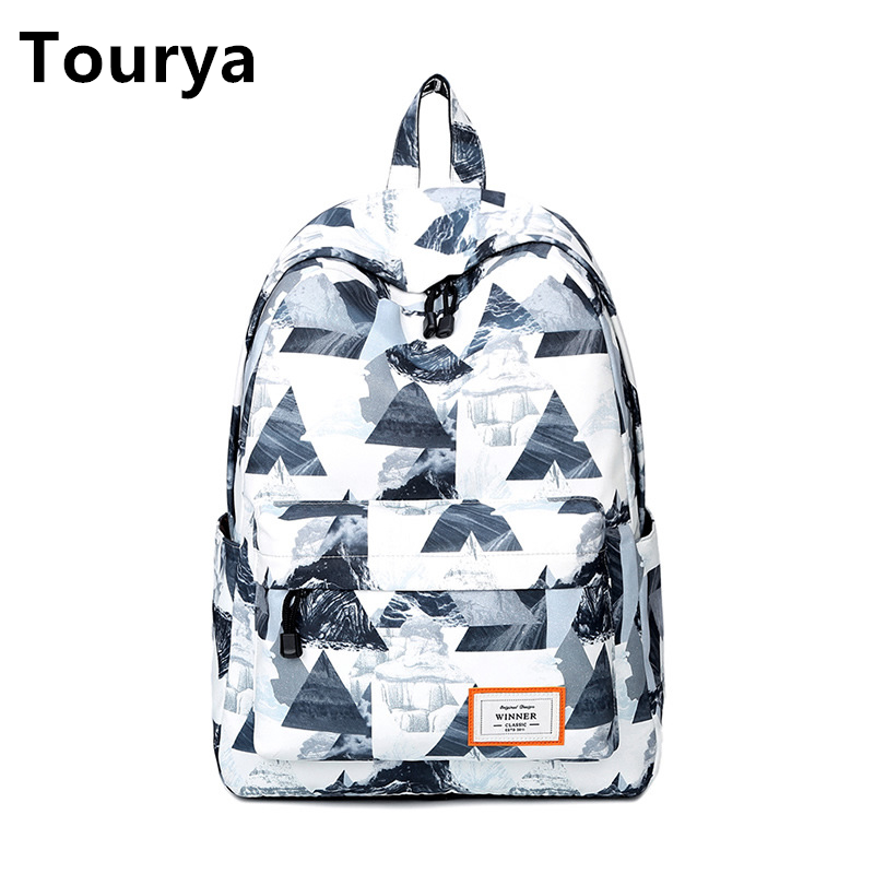 Tourya Casual Women Backpack School Backpacks Bags Bookbag for Teenagers Girls Laptop Backbag Travel Daypack Mochila Feminina bacisco men women backpack 16inch laptop backpacks for teenage girls casual travel bags daypack canvas backpack school mochila