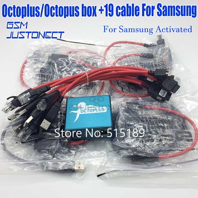 Original new Octopus box V 2 6 6 for Samsung New Edition ( package octoplus  box with 18 cables)ForS5& N900T&N900A&N9005