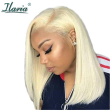 ILARIA Brazilian Ombre Hair 613 Blonde Bob Lace Front Wigs For Black Women Short Human Hair Wigs Natural Hairline Translate Lace(China)