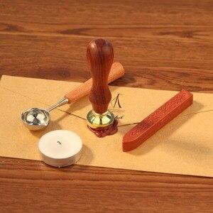 Image 3 - Nowy Retro drewniany znaczek antyczny Metal pieczęć wosk znaczki drewno uchwyt zaproszenia ślubne pieczęć woskowa Craft pieczęć woskowa